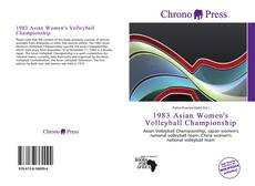 Bookcover of 1983 Asian Women's Volleyball Championship