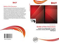 Bookcover of Battle of the Caucasus