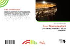 Bookcover of Keter (disambiguation)
