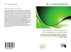 Bookcover of Air Pollution Control Act
