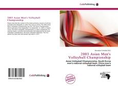 Bookcover of 2003 Asian Men's Volleyball Championship
