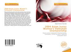 Portada del libro de 2004 Asian Junior Women's Volleyball Championship