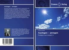 Bookcover of Auslegen - anregen