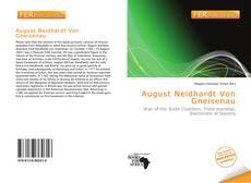 Copertina di August Neidhardt Von Gneisenau