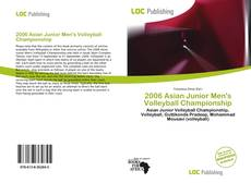Capa do livro de 2006 Asian Junior Men's Volleyball Championship