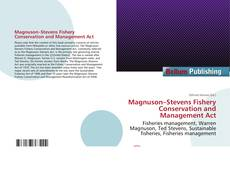 Bookcover of Magnuson–Stevens Fishery Conservation and Management Act