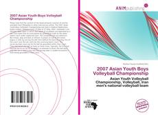 Capa do livro de 2007 Asian Youth Boys Volleyball Championship