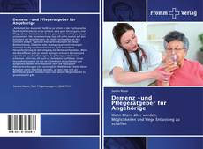 Demenz -und Pflegeratgeber fürAngehörige kitap kapağı