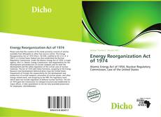 Buchcover von Energy Reorganization Act of 1974