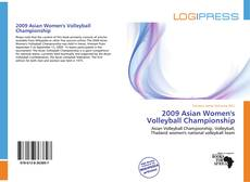 Capa do livro de 2009 Asian Women's Volleyball Championship