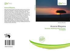 Bookcover of Acacia Blayana