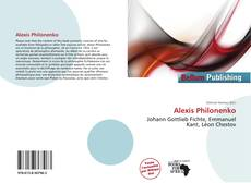 Bookcover of Alexis Philonenko