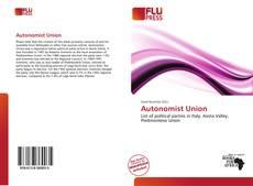 Buchcover von Autonomist Union