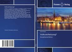 Portada del libro de Volksverhetzung?