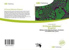 Bookcover of III Corps (Ottoman Empire)