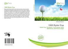 Buchcover von 1985 Ryder Cup
