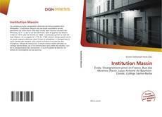 Couverture de Institution Massin