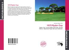 Bookcover of 1975 Ryder Cup