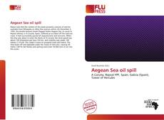 Capa do livro de Aegean Sea oil spill