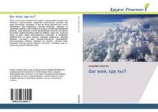 Bookcover of бог мой, где ты?