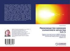 Bookcover of Производство кремния солнечного качества SoG Si
