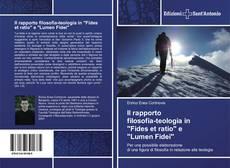 """Portada del libro de Il rapporto filosofia-teologia in """"Fides et ratio"""" e """"Lumen Fidei"""""""