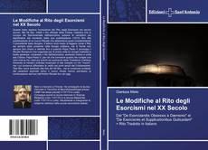 Capa do livro de Le Modifiche al Rito degli Esorcismi nel XX Secolo