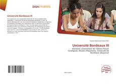 Обложка Université Bordeaux III