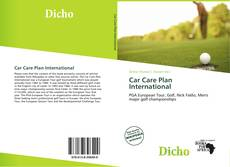Bookcover of Car Care Plan International