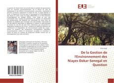 Couverture de De la Gestion de l'Environnement des Niayes Dakar-Senegal en Question
