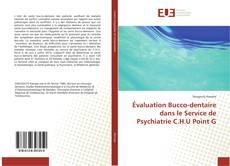 Couverture de Évaluation Bucco-dentaire dans le Service de Psychiatrie C.H.U Point G