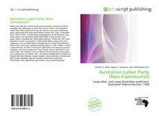 Buchcover von Australian Labor Party (Non-Communist)