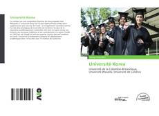 Université Korea kitap kapağı