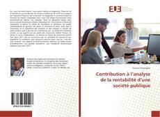 Capa do livro de Contribution à l'analyse de la rentabilité d'une société publique