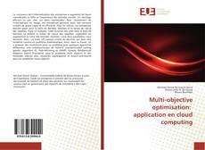 Multi-objective optimisation: application en cloud computing kitap kapağı