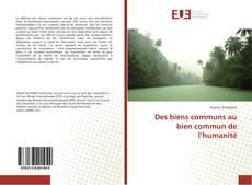 Capa do livro de Des biens communs au bien commun de l'humanité