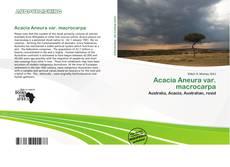 Buchcover von Acacia Aneura var. macrocarpa