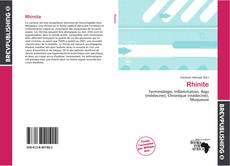 Bookcover of Rhinite