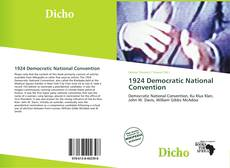 Bookcover of 1924 Democratic National Convention