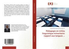 Couverture de Pédagogie en milieu linguistique minoritaire: rapport aux langues ...
