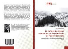 Bookcover of La culture du risque avalanche sur la commune de Peisey-Nancroix