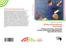 Bookcover of Dhaka International University