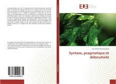 Bookcover of Syntaxe, pragmatique et délocutivité