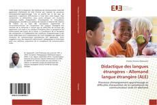 Bookcover of Didactique des langues étrangères - Allemand langue étrangère (ALE)