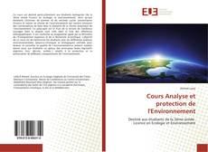 Buchcover von Cours Analyse et protection de l'Environnement