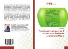 Portada del libro de Nutrition des enfants de 0 à 5 ans dans le district sanitaire de Mopti