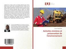 Borítókép a  Activités minières et préservation de l'environnement - hoz