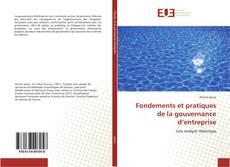Couverture de Fondements et pratiques de la gouvernance d'entreprise