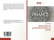Couverture de Optimisation de portefeuille d'actions en finance