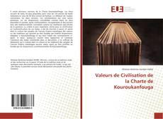 Portada del libro de Valeurs de Civilisation de la Charte de Kouroukanfouga